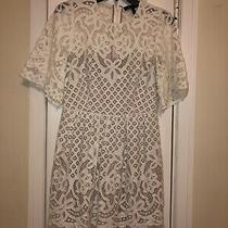 Bcbg Maxazaria White Lace Dress Size 4 Photo