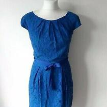 Bcbg Maxazaria Woman Blue Floral Lace Dress Size 8 Uk Photo