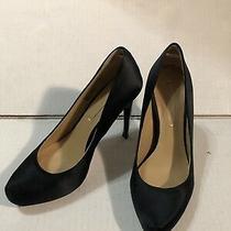 Bcbg Maxazeria Black Satin Platform High Heel Shoe Size 7 Photo