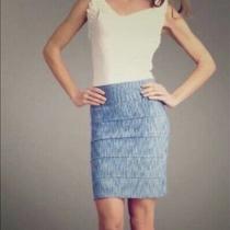 Bcbg Maxazria 145 Blue Space Dye Bandage Sexy Stretch Knit Pencil Skirt S Nwot Photo