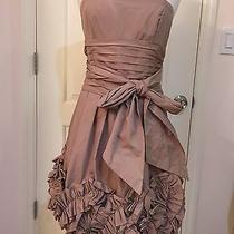 Bcbg Maxazria Antique Gold Woven Taffeta-Poly Dress Photo
