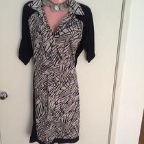 Bcbg Maxazria Black and White Dress Sz M Photo