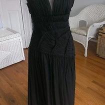 Bcbg Maxazria Black Formal Silk Sleeveless Dress Photo
