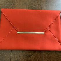 Bcbg Maxazria Black 'Harlow' Curry Red Envelope Clutch Photo