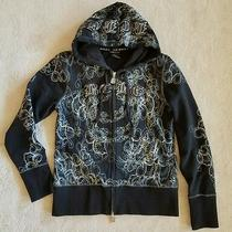 Bcbg Maxazria Black Hooded Zip Up Sweatshirt Jacket  Women's Junior Size L Photo