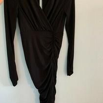 Bcbg Maxazria Black Rouched Bodycon Dress Size Xs Photo