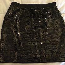 Bcbg Maxazria Black Sequin Skirt Photo