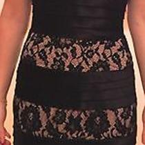 Bcbg Maxazria Blush Lace and Black Bandage Halter Dress Size 0 Photo