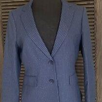 Bcbg Maxazria Brian Navy and White Stripe Blazer Jacket Size M Photo