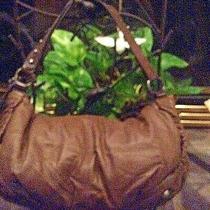 Bcbg Maxazria Brown Leather Handbag  Preowned P81 Photo