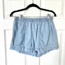 Bcbg Maxazria Chambray Pull on Shorts Size Medium Euc Photo