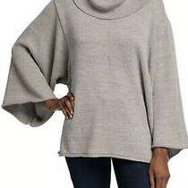 Bcbg Maxazria Cowl Neck Sweater Grey Wide Sleeve Size Xs/s Nwt Soft Cozy Photo