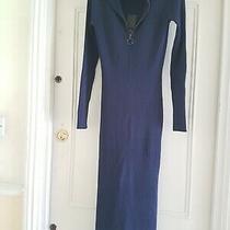 Bcbg Maxazria Dark Blue Slinky Dress - Bnwt - Rrp 228 Photo