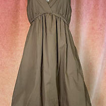 Bcbg Maxazria Dress Brown Halter Cotton Bubble Hem Women's Sz 2 Photo