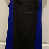 Bcbg Maxazria  Dress Sleeveless Black and Blue  Size M Photo