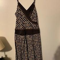 Bcbg Maxazria Dress Small Empire Waist Brown Sleeveless Cross Front V Photo