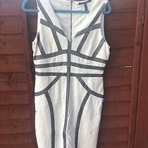 Bcbg Maxazria Dress White Size L Streachy Machine Washable Photo