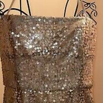 Bcbg Maxazria Gold Cocktail Dress Size 4 Photo