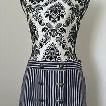 Bcbg Maxazria Grey/black Striped Mini Skirt Sz 4 Photo