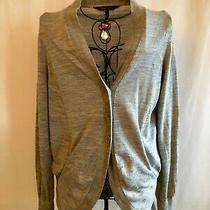 Bcbg Maxazria Grey Knit Stretchy Cardigan Size M Photo