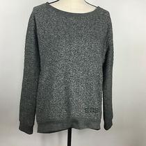 Bcbg Maxazria Heavy Sweatshirt Womens Large Hi Low Pockets Bling Photo