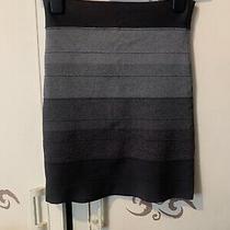 Bcbg Maxazria Herve Leger Bodycon Bandage Grey Tie Dye Pencil Skirt S Small 8 10 Photo