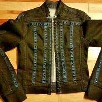 Bcbg Maxazria Jacket Denim - Womens Size Xs Extra Small Photo