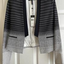 Bcbg Maxazria Jacket New Guy Size Black/comb Small Photo