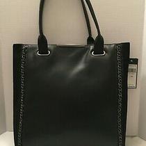 Bcbg Maxazria Large Black Leather Tote Shopper Shoulder Bag Purse Hand Bag Photo