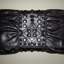 Bcbg Maxazria Leather Clutch Like New Photo