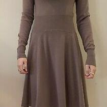 Bcbg Maxazria Light Brown Cowl Neck Womens Long Sleeve Sweater Dress Photo