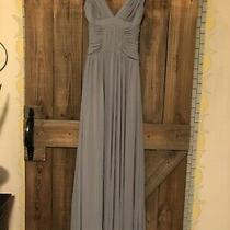 Bcbg Maxazria Maxi Dress Xs Blue/gray Grecian Style Photo
