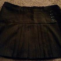 Bcbg Maxazria Mini Mahogany Skirt Size 6  Brown  Striped Photo