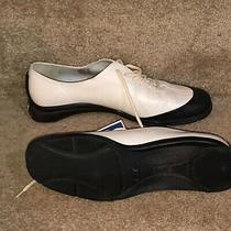 Bcbg Maxazria New Womens Black/white Flat Shoes (Spats Look) 7m Excellent Photo