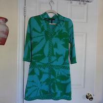 Bcbg Maxazria Nice  Dress Sz M Blue/green Photo