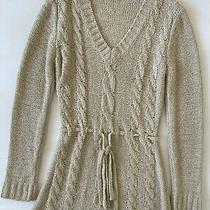 Bcbg Maxazria Oatmeal  Sweater Tunic Dress Size M Photo