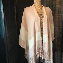 Bcbg Maxazria Oversized Blanket Scarf New W Tags Fall Blush Pink Nwt Fringe  Photo