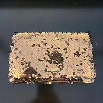 Bcbg Maxazria Purse Clutch Copper Sequin Sparkly Brown Neutral With Dust Cover Photo