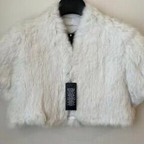 Bcbg Maxazria Real Rabbit Fur Jacket 470 Size M Photo