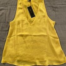 Bcbg Maxazria Satin Tunic Tank Yellow Nwt 118 Size Xs Photo