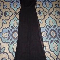 Bcbg Maxazria Size 0 Black Romper Sheer Dress Photo