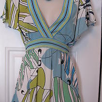 Bcbg Maxazria--Size Small (S)-Attached Belt Bright Fun Blouse  Photo