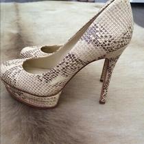 Bcbg Maxazria Snakeskin Platform Heels Photo