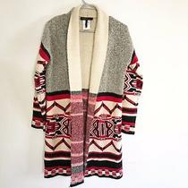 Bcbg Maxazria Southwest Tribal Open Front Cardigan Size Small Photo