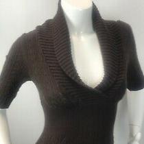 Bcbg Maxazria Sweater Dress Brown Cableknit Size S Photo