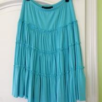 Bcbg Maxazria Teal Summer Skirt Size Xs Photo