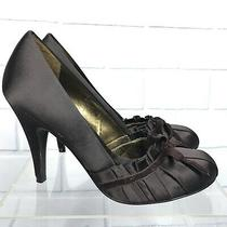 Bcbg Maxazria Victorian Bow Brown Pumps Heel Shoes Sz 7 -Fits Like 6.5 Photo