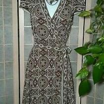 Bcbg Maxazria Wear to Work Wrap Dress Beige Cream Small Usa Photo