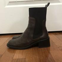 Bcbg Maxazria Women's 7.5m Brown/elastic Detail Block Heel Ankle Boots Photo