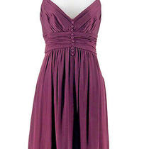 Bcbg Maxazria Women's Plum Purple Sleeveless v-Neck Dress Size Small Photo